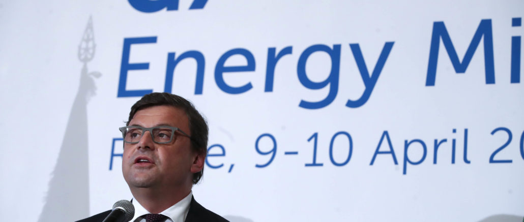 Carlo Calenda G7 Energia